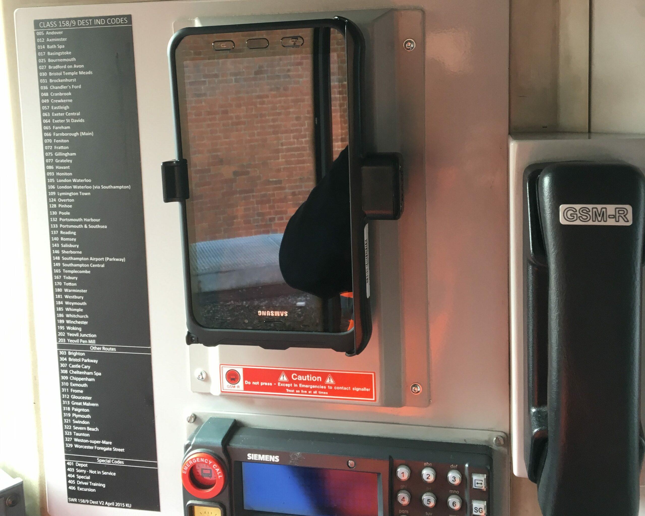 DAS tablet in Class 158